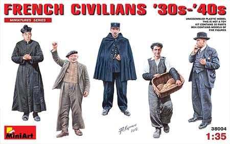 38004 FRENCH CIVILIANS '30s-'40s