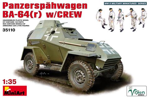 MiniArt - 35110 PANZERSPAHWAGEN  BA-64(r)  w/CREW