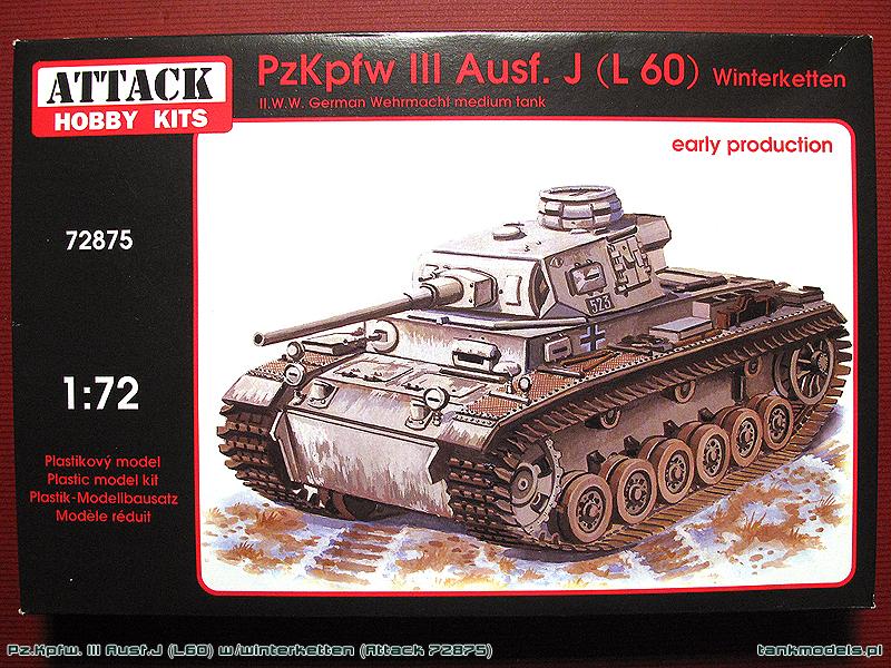 Pz. Kpfw. III Ausf. J L60 w/Winterketten - Attack Hobby