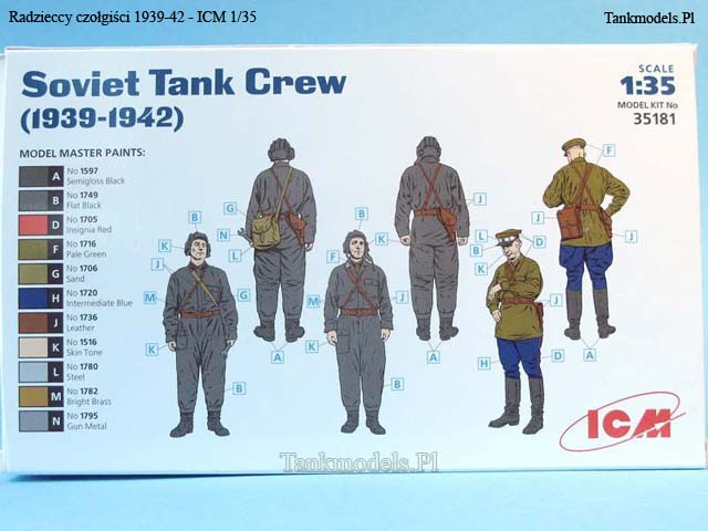 załoga czołgu radzieckiego 1939 - ICM 1/35
