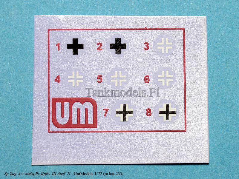 UniModels 255 - Sp.Zug-A z wieżą Pz.Kpfw. IV C
