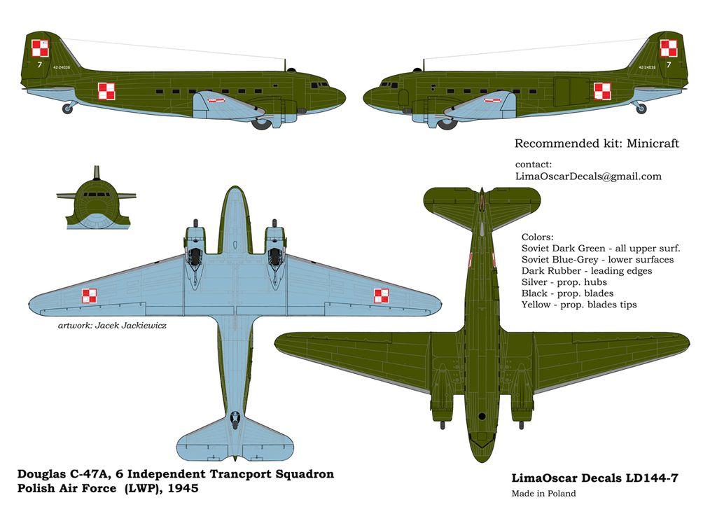 DOUGLAS C-47 POLAND GOV. SQUADRON 1947 (LWP 1945)