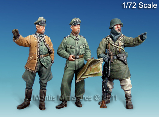 German Officers, WWII - Mantis Miniatures