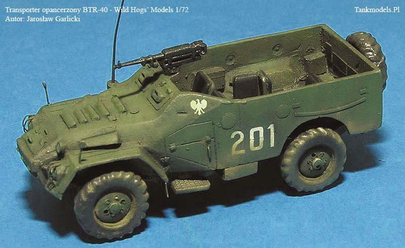 BTR-40 - 1/72 - Jarosław Garlicki