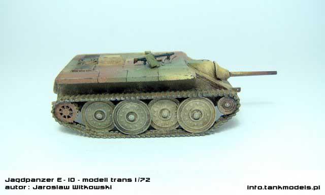 Jagdpanzer E-10 - Modell Trans 1/72