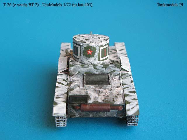 T-26 z wieżą BT-2 - UniModels 1/72 (405)