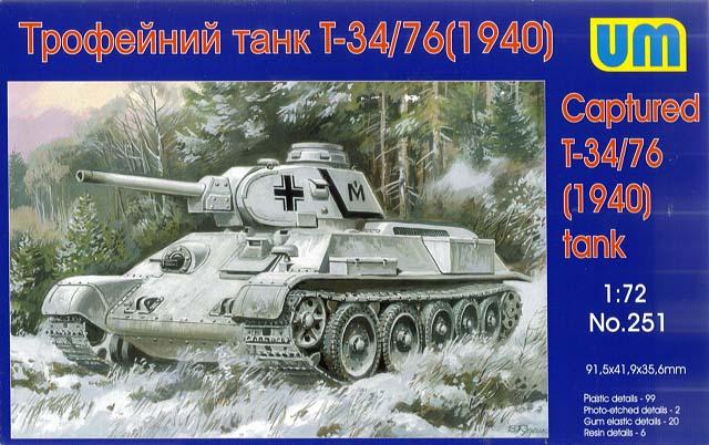 T-34/76 1940 wer. niemiecka - UniModels 1/72 (251)