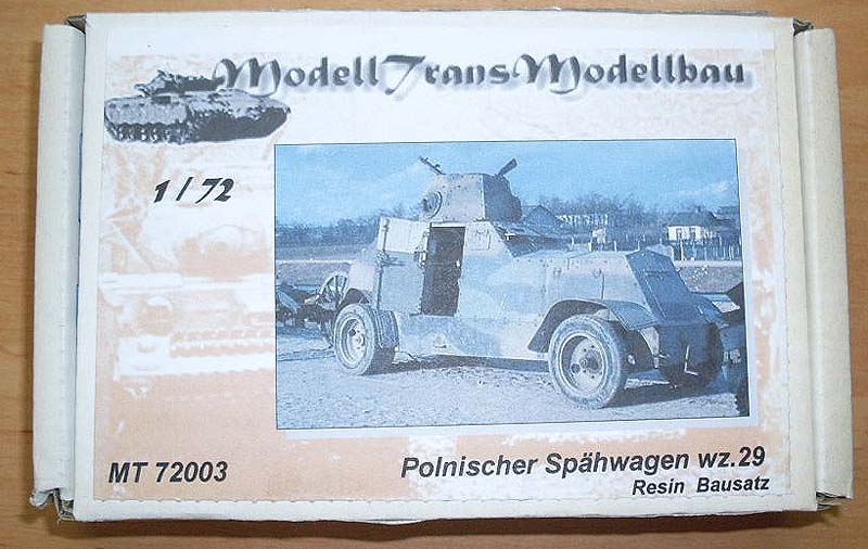 Polish armoured car Wz.29 - ModellTrans 1/72