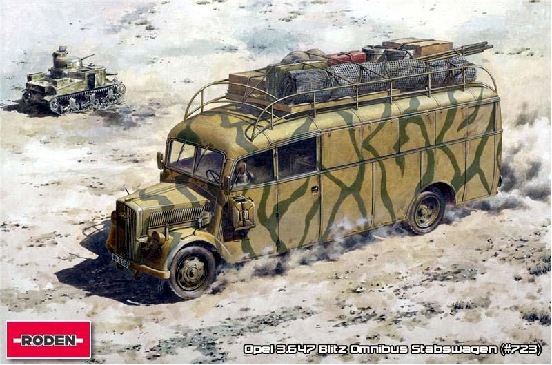 Opel 3.6-47 Blitz Omnibus Stabswagen - Roden 1/72