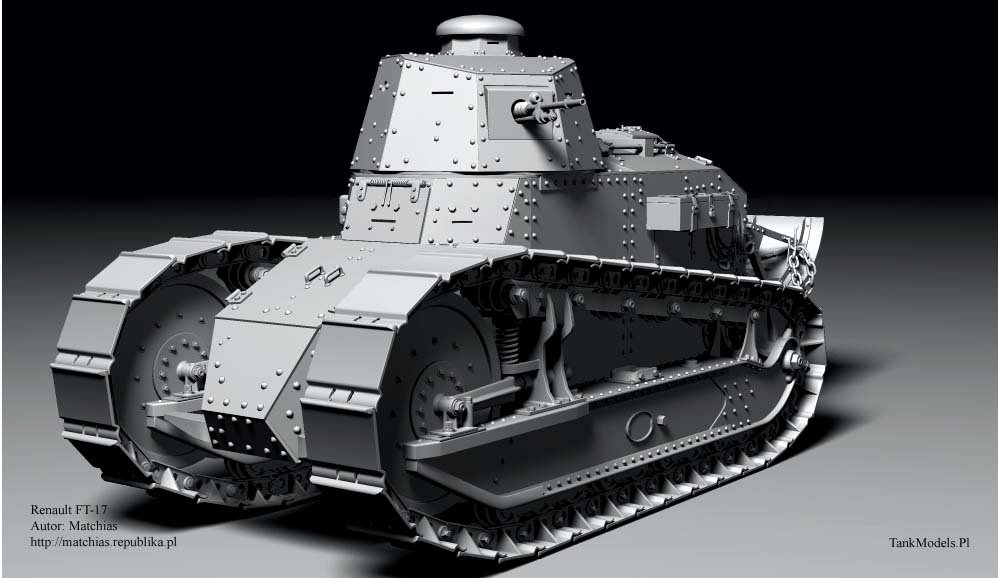 Tank 3D - Renault FT-17 char mitrailleuse