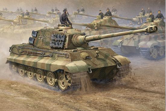 Tiger II (Henschel Turret / Porsche Turret) - Trumpeter 1/16