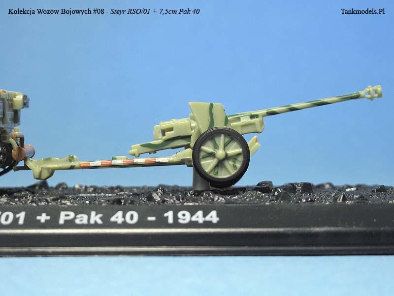 Kolekcja Wozów Bojowych Nr.8 - Steyr RSO/01 z armatą Pak 40